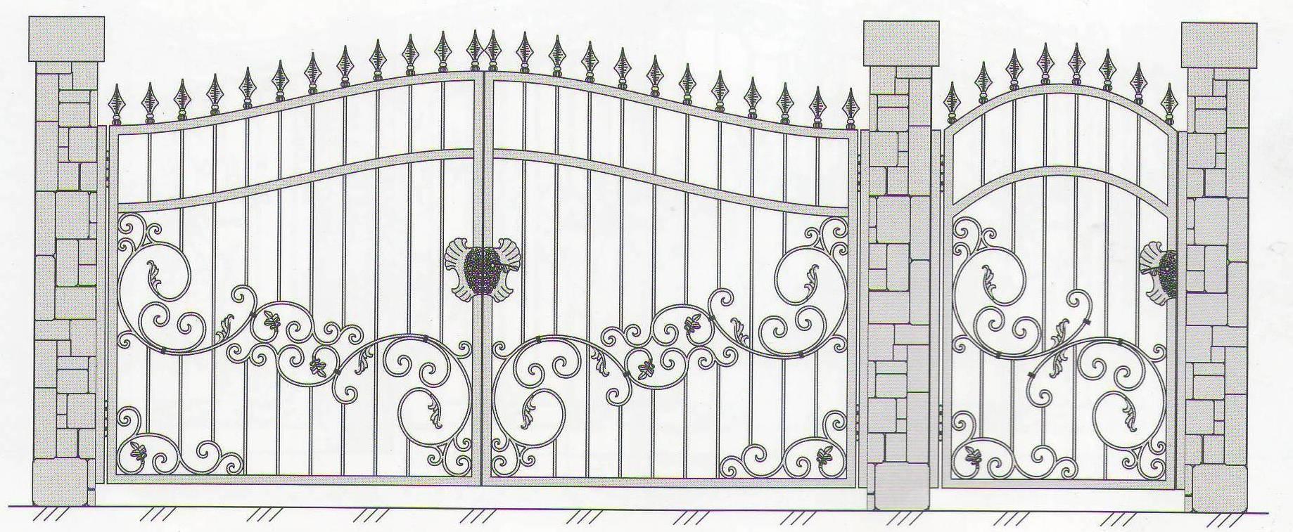 Чертежи кованых ворот своими руками